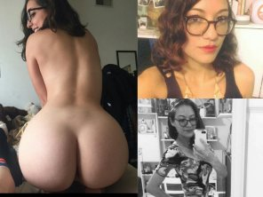 amateur photo Ass and glasses