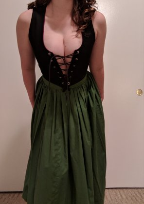 amateur photo Oh dear someone untied my corset [f]