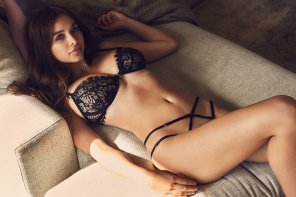 amateur photo Sophie Mudd in a see-through black bra and thong
