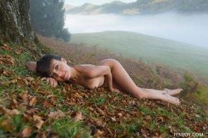 amateur photo Foggy Hillside