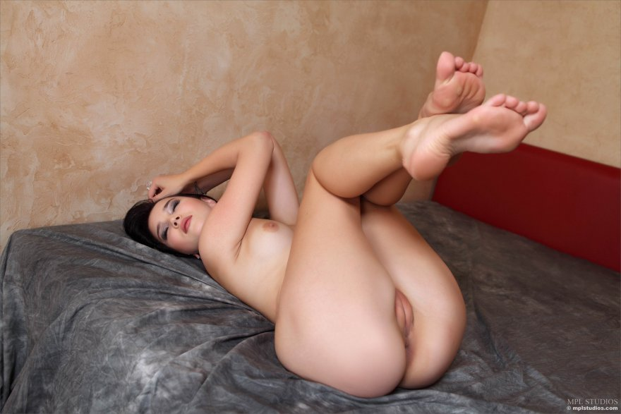 Malena holding her legs up for you Porn Photo