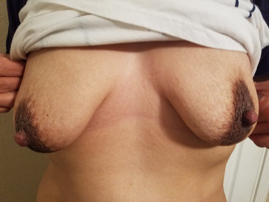 My hard nipples are cold Porn Photo