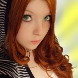amateur photo Big green eyes