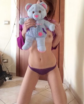 amateur photo I`m legal but still in love with my teddy bear! 💖