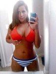 amateur photo Cute red, white, and blue bikini.