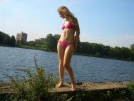Bikini By A River