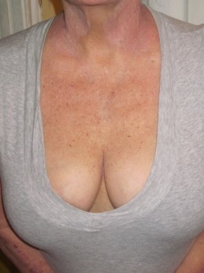 amateur photo [Image] I think I may need a boob job. My hubby says I don't. What do you think? [F52]
