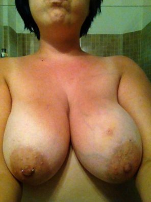 amateur photo Colossal Pierced Boobies