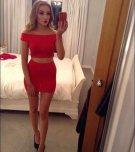 amateur photo Little red dress