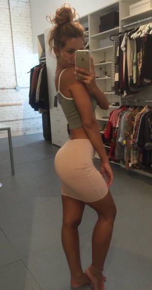amateur photo Sweet skirt selfie