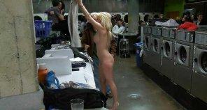 amateur photo just doing laundry