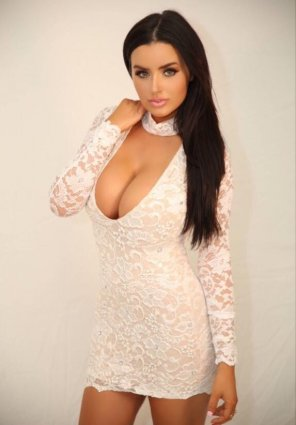 amateur photo Abigail Ratchford Bursting Out of her Dress