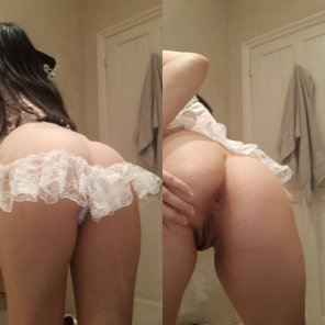 amateur photo On and o[f]f, bending over