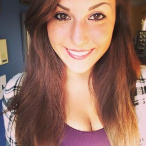amateur photo Brunette in flannel.