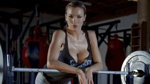 amateur photo Jordan Carver bursting after a workout