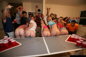amateur photo Looks like the girls lost that round of beer pong.