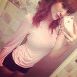 amateur photo Mirror selfie.