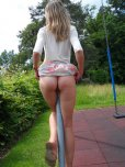 amateur photo Showing in the playground