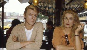 amateur photo David Bowie and Catherine Deneuve, 1983
