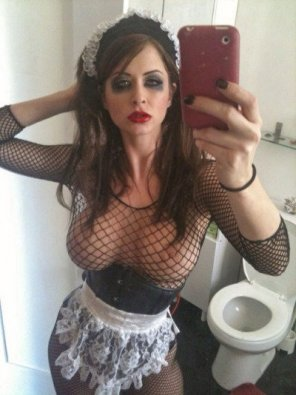 amateur photo Busty Gothic Maid