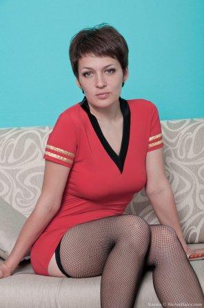 amateur photo Karina in Sheer Stockings