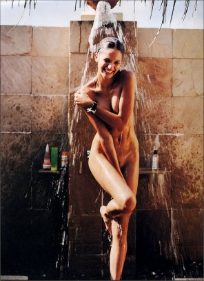 amateur photo Outdoor Summer Shower Shy Girl