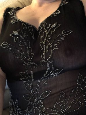 amateur photo Sheer and beaded