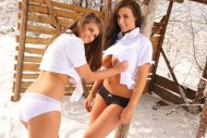 Stacey Poole and Sarah James
