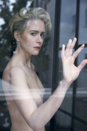 amateur photo Sarah Paulson in W Magazine