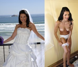 amateur photo Bride in white