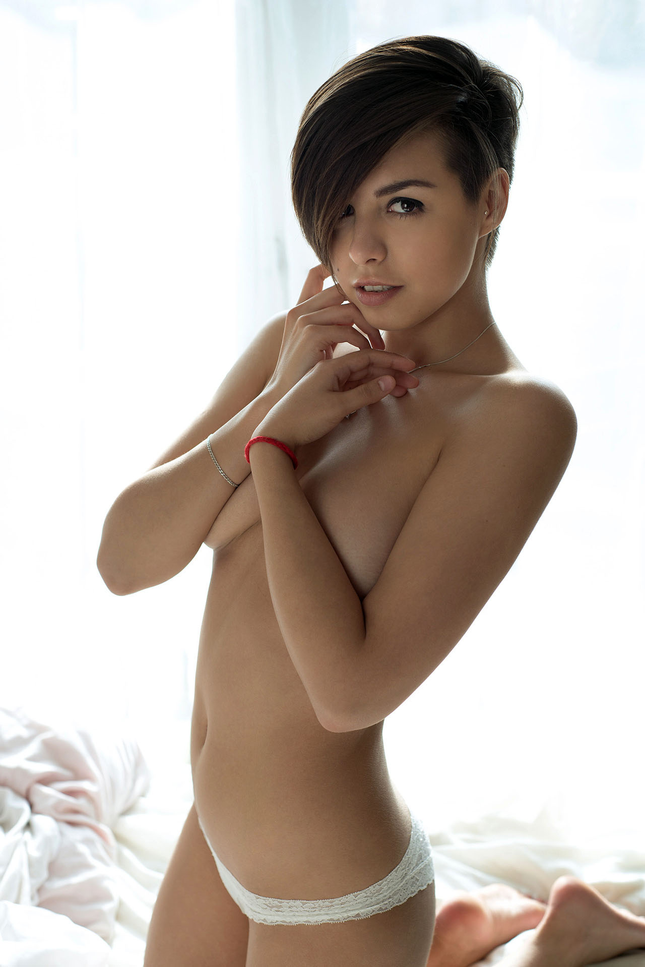Ladies naked short haired apologise