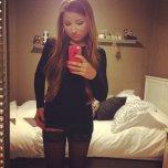 amateur photo Short Black Dress w/ Thigh Highs