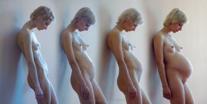amateur photo And finally for today: this series of pictures is right up there amongst the hottest I've seen. Pregnant progression of a small-titted, gorgeous woman