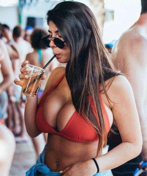 amateur photo Taking a sip