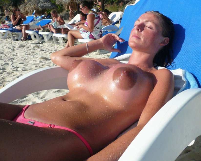 Her bikini top was probably too small anyway Porn Photo