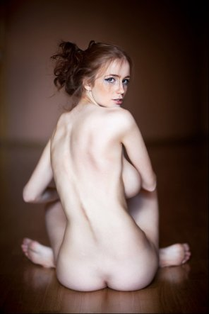 amateur photo Freckled redhead