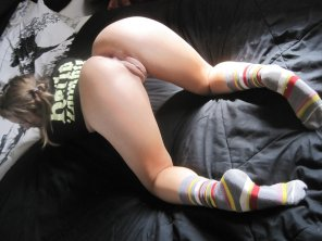 amateur photo Long socks