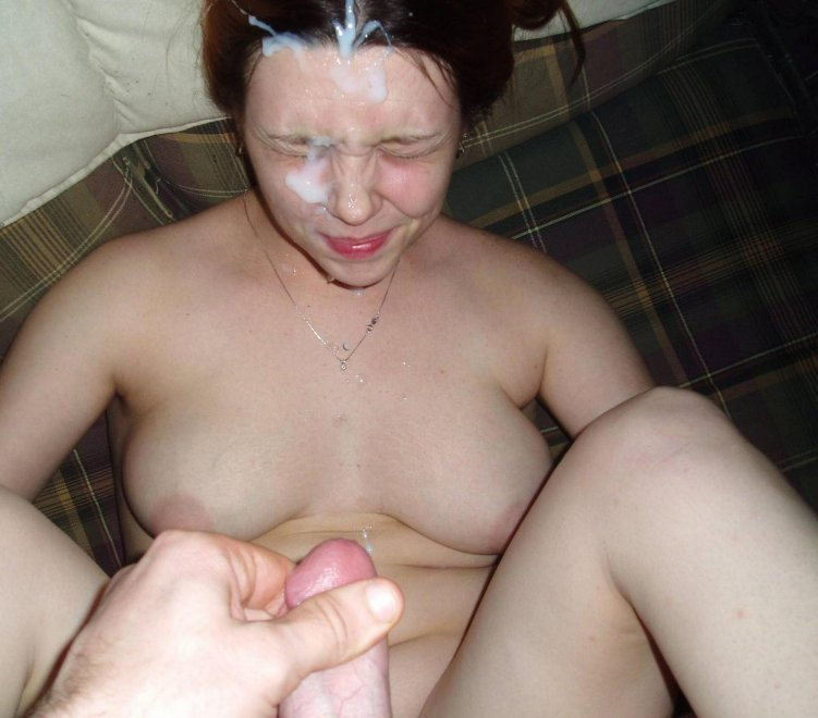 amateur photo Big load in her face