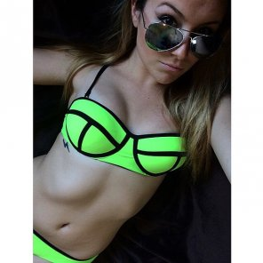 amateur photo Neon bikini