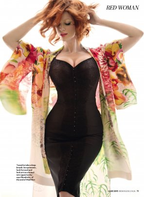 amateur photo Christina Hendricks in Red Magazine UK