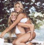 amateur photo Sexy twins in matching bikinis.