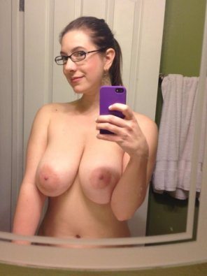 amateur photo In her mirror