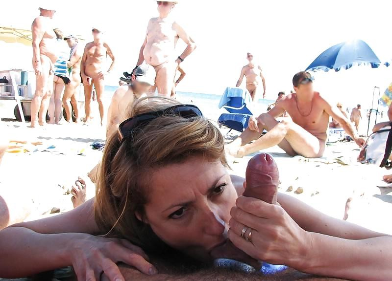 Hot cock sucking in public