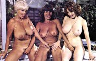 Three retro busty babes: Candy Samples, Uschi Tigard, and Kitten Natividad