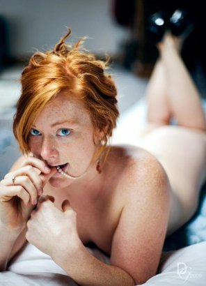 amateur photo Freckled fiery-haired ginger
