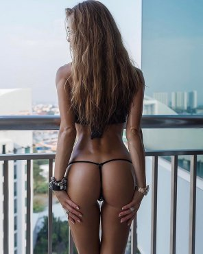 amateur photo Barely a thong