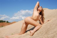 Becka on the sand