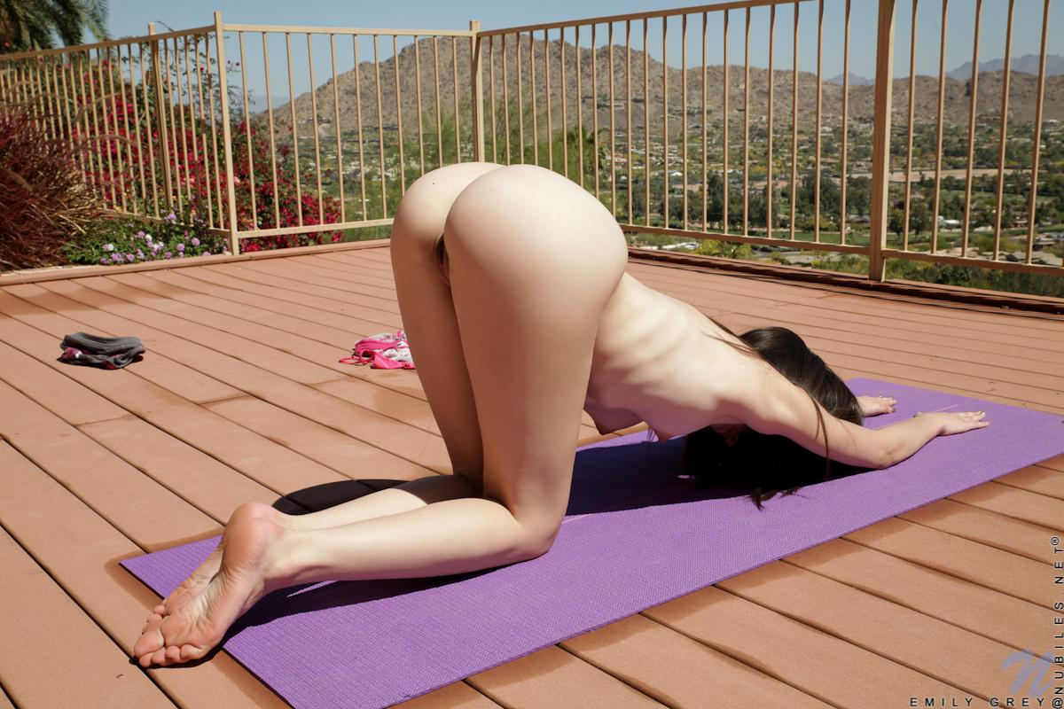 Naked downward dog