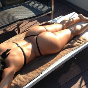 amateur photo Butt tanning