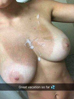amateur photo Cum on the tits